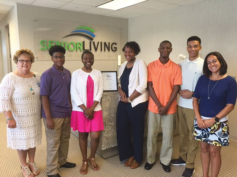 Students from Senior Living Communities' Explore program.