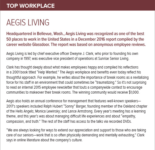 Top Workplace Chart - Aegis Living