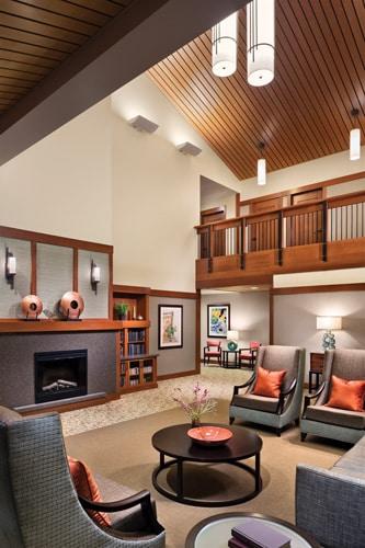 Living room at Spring Lake Village