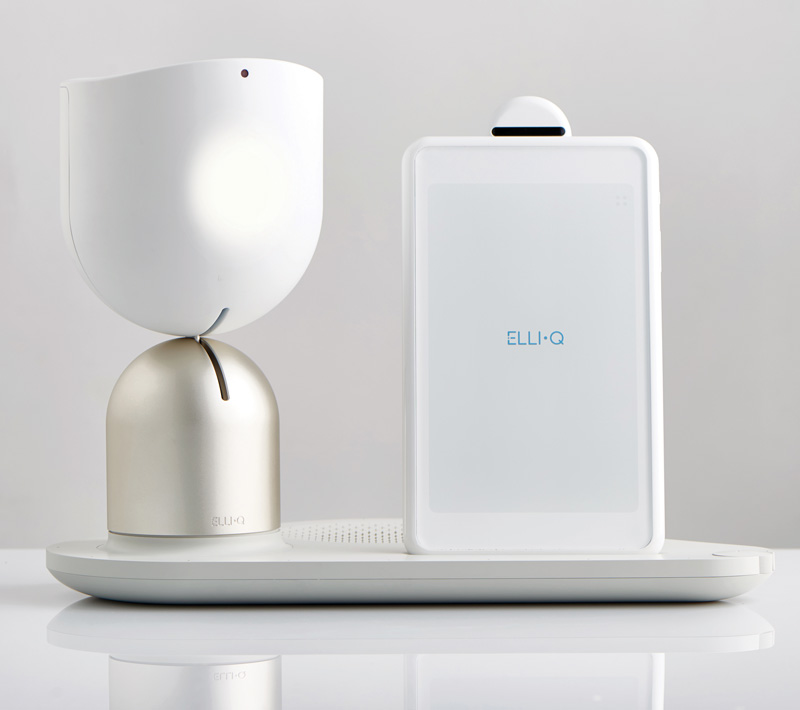 ElliQ is a social robot that converses with older adults