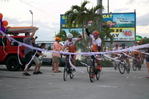 finish line bike race