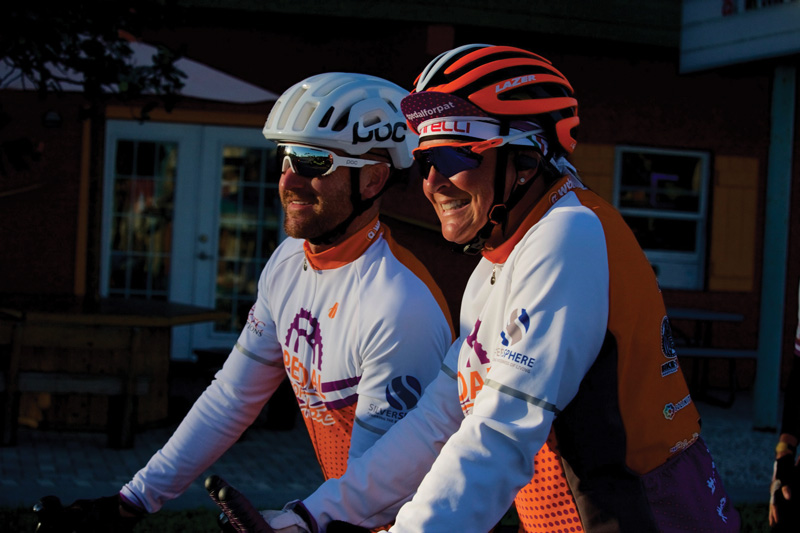 Joshua Crisp and Michelle Brooke-Marciniak at Alzheimer's race