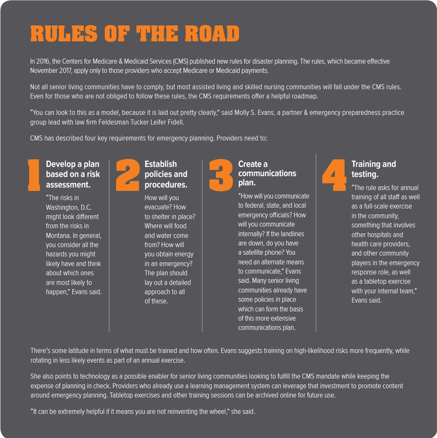 Disaster Planning Rules chart
