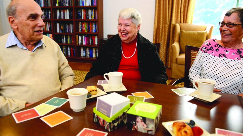 Residents interacting with Atria Storywise®.