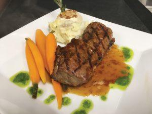 A steak entree served by Brandywine Living.