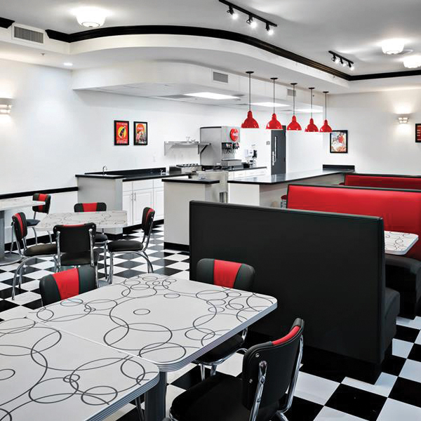 1950s style diner at Blue Harbor community