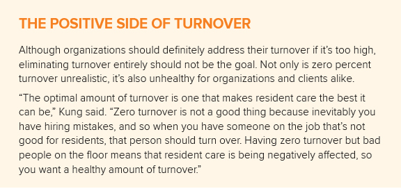 positive side of turnover chart