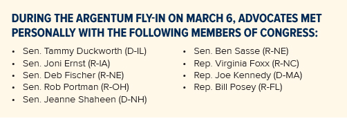info box of congressional attendees