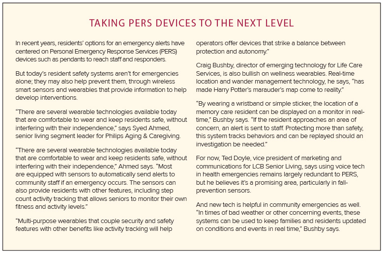 Sidebar about PERS Devices